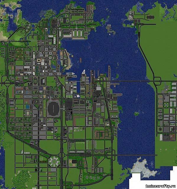 Скачать карту большой город пустыне для майнкрафт 1.7.10